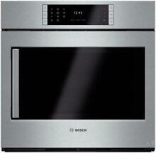 Bosch Benchmark Series 30   4 6 cu ft  Single Electric Wall Oven HBLP451RUC IMG