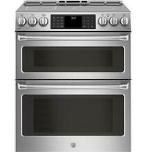 GE Cafe CHS995SELSS Slide  In Induction and Convection Double Oven Range