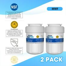 2 Water Filter Fits GE MWF SmartWater MWFP GWF Refrigerator Best Sell Free Ship