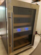 Vinotemp 12 Bottle Dual Zone Thermoelectric Mirrored Wine Cooler
