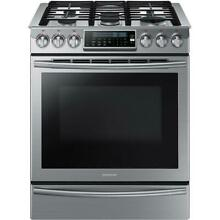Samsung NX58H9500WS 30 Inch Slide In Gas Range with True Convection