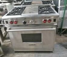 Wolf 36  Professional Gas Range Stove 4 Burners Griddle Stainless Steel