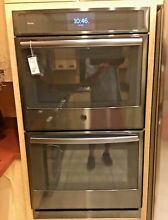 GE PT9551BLTS 30  Built In  Double  Convection Electric Wall Oven in Black SS