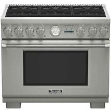NIB Thermador 36  6 Sealed Star Burners Pro Style Dual Fuel Range PRD366JGU