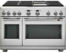 NIB GE Cafe C2Y486P2MS1 48 Inch Freestanding Duel Fuel Professional Range