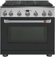 NIB GE Cafe CGY366P3MD1 36  Freestanding Professional Convection Gas Range