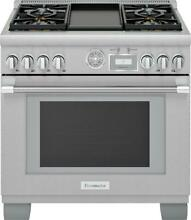 Thermador PRG364WDG 36 Inch Smart Freestanding Gas Range with Integrated Grill