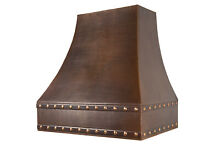 Premier Copper Products 36  625 CFM Hand Hammered Copper Wall Mounted Range Hood