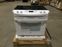 GE 4 4 cu  ft  Drop In Electric Range w Self Cleaning Oven White JD630DFWW