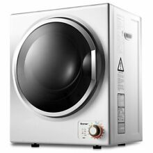 1 5 cu  ft  Electric Tumble Compact Laundry Dryer Stainless Steel Wall Mounted