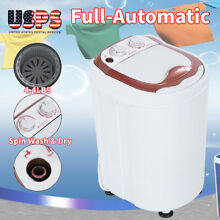 Full Automatic Portable Compact Washing Machine Laundry Washer Spin Dry RV Dorm