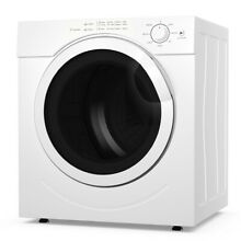 3 21 Cu  Ft  Electric Tumble Compact Laundry Dryer Stainless Steel for Home Dorm