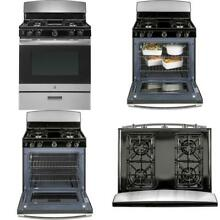 4 8 cu  ft  Gas Range in Stainless Steel Quick and Easy Flexible Broiling NEW