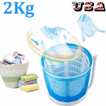 2 in 1 Portable Mini Traveling Outdoor Washing Machine Compact Washer Spin Dryer