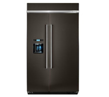 KITCHENAID 48  Built In Side by Side Refrigerator with PrintShield KBSD608EBS