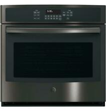 GE 30  Black Stainless Built In Single Convection Wall Oven NO DAMAGE JT5000BLTS