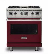 Viking 5 Series 30  Dual Fuel Range with TruConvec  Burgundy VDR5304BBU