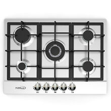 Premium 28  Stainless Steel 5 Burners Built in Stove Propane GAS frontal Panel