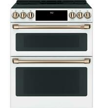 GE Cafe CHS950P4MW2 30  Smart Matte White Induction and Convection Range