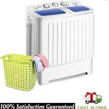 Mini Compact Portable Washing Machine Twin Tub Washer Dryer Energy Saving White