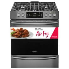 Frigidaire Gallery FGGH3047VD 30  Black Stainless Steel Gas Range w  Air Fryer
