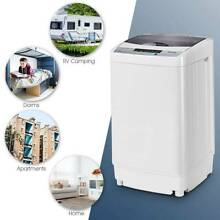 New Portable Compact Washing Machine 1 34 Cu ft Spin Washer Drain 8 Water Level