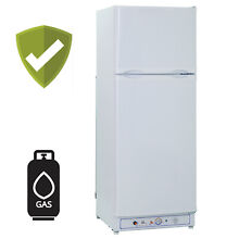 LP Gas Fridge Propane Refrigerator Freestanding Storage Freezer AC DC 9 4 Cu ft