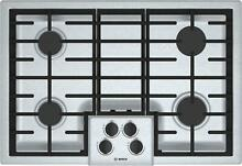 Bosch 500 Series NGM5056UC 30 Inch Gas Cooktop Sealed Burners Excellent