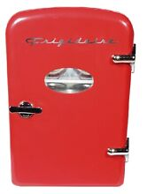 Retro Mini Fridge 6 Can Portable Compact Refrigerator Store Snacks and Beverages