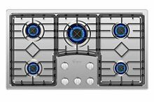 Gas Stove Cooktop with 5 Italy Sabaf Sealed Burners NGLPG Convertible