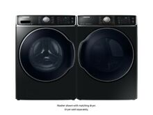 Samsung WF56H9100AV DV56H9100GV Side by Side Washer Gas Dryer FL Set Black