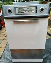 Vintage GE Apartment Sized 21 in  Push Button General Electric White Stove