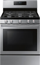 Samsung NX58H5600SS Freestanding Gas Convection Range Stainless Steel 5 8 cu ft