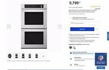 Local Pickup Only LG 30 In Double Electric Wall Oven Stainless Steel