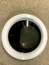 NICE  KENMORE DRYER WHITE DOOR GLASS COMPLETE 5304507185 PS11770629