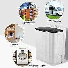 Washing Machine 20 7LBS Twin Tub Spiner Dryer Compact Portable Laundry Washer