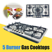 35  Built in Stove 5 Burner Stainless Steel Cooktop Gas Stove NG LPG Gas Cooker