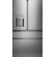 GE Cafe Modern Glass Collection 36  Smart 4 Door French Door Fridge CVE28DM5NS5