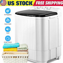 26LBS Compact Portable Washing Machine Twin Tub Spiner Dryer Washer Spin