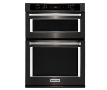 KITCHENAID 30  Electric Even Heat Wall Oven with Built In Microwave KOCE500EBS