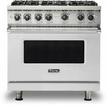 Viking 5 Series VGR5366BSS 36  Pro Style Natural Gas Range 2020 Model Pictures
