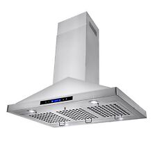 36  Island Mount Stainless Steel Kitchen Range Hood Stove Vent Touch Control