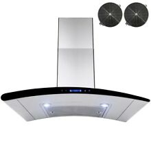 30  Wall Mount Stainless Steel Ductless Ventless Range Hood Vent Touch Control