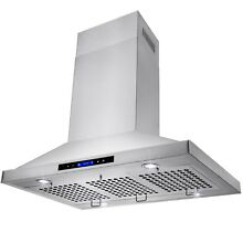 36  Island Mount Powerful Kitchen Vent Stainless Steel Range Hood Touch Panel