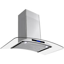 36  Kitchen Wall Mount Stainless Steel Range Hood Ventless