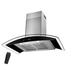 30  Stainless Steel Wall Mount Style Kitchen Cooking Range Hood Touch Control