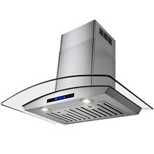 36  Europe Kitchen Glass Stainless Steel Wall Mount Range Hood w  Remote