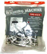 12  Fluidmaster 2 Packs 3 4  x 3 4  x 60  Stainless Steel Washing Machine Hoses