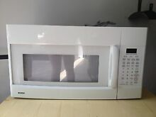 Kenmore white over the counter microwave