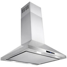 30  Stainless Steel Island Mount Range Hood Touch Panel W  Carbon Filter